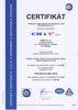 Certifikát ISO 2001:2009